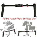 FOTOWELT Dual Handle Grip Handheld Handlebar Kit with 1/4 Screw Connector Compatible with DJI Ronin-S/Ronin SC/Moza Air 2 Handheld Gimbal Stabilizer