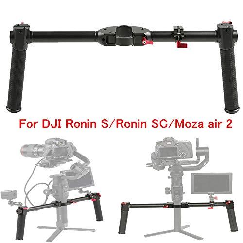 Sutefoto Dual Handle Grip Erweitertes Handheld Kit Lenker Zubehör Kompatibel für DJI Ronin S/Ronin SC/Moza Air 2 Gimbal Stabilisator