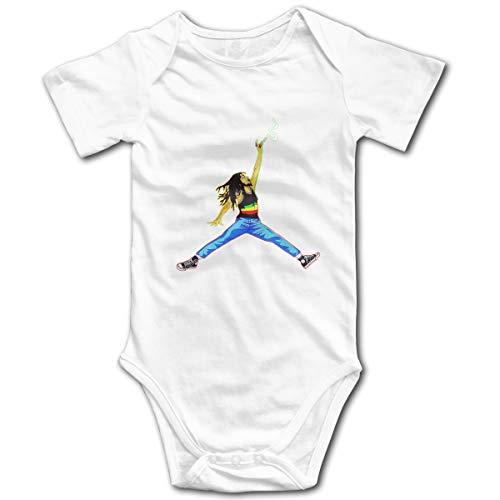 U are Friends Bob-Marley Newborn Girls Boy Enfants Combi-Short pour bébé à Manches Courtes pour bébé(2T,Blanc)