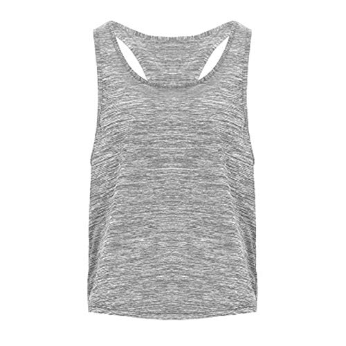 Camisa para Mujer Mujer yoga top damas atlético aptitud deporte deporte camisetas entrenamiento entrenamiento entrenamiento camisetas entrenamiento ropa ( Color : Light Grey , Size : Small Size )