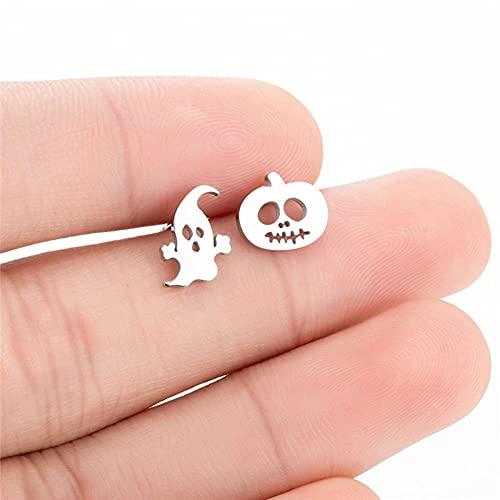 XCLWL Pendientes De Acero Inoxidable para Niños Negro Animal Perro Pata Pendientes Bee Cat Snake Hedgehog Piercing Jewelry-9