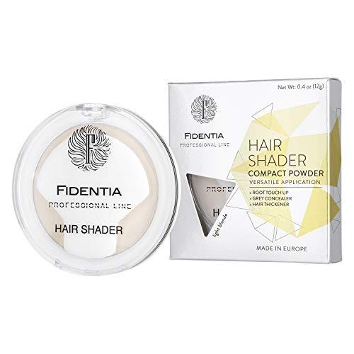 Fidentia Hair Shader 12g | Made in EU | Haar Concealer Puder zur Haarverdichtung, Ansatz & Geheimratsecken kaschieren - Hellblond