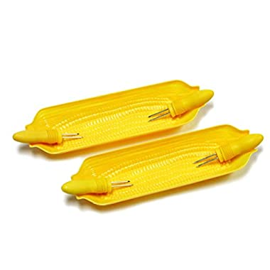 Chef Craft Corn Cob Dishes with Holders, 2-Pack