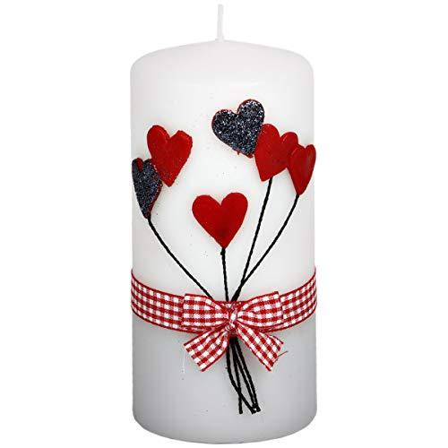 holzalbum Stumpenkerze Hochzeitskerze Kerze zur Hochzeit Trauung Traukerze Vermählung Herz