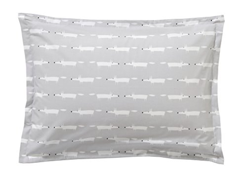 Scion living Mr Fox Taie rectangle Coton Gris 75 x 50 cm