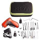 Pistola ganzúa eléctrica KLOM universal cerraduras + Accesorios - 30 Piezas Original Klom