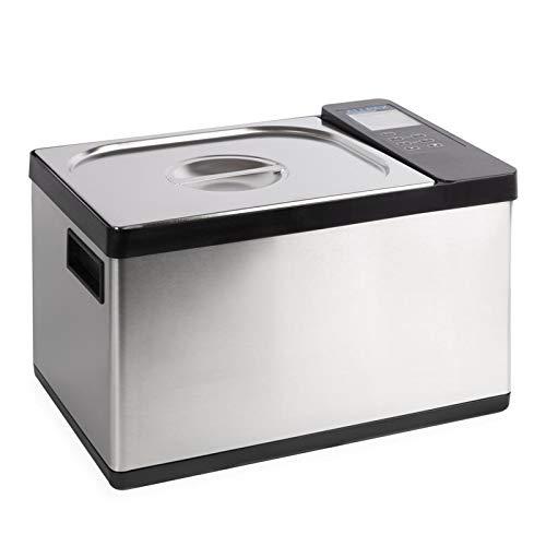 Sous Vide Wasserbad SV 12-2 in 1 Gerät - auf den Punkt gegarte Speisen, kein Übergaren - integrierte Umwälzpumpe - Temperaturbereich 0 °C – 99 °C einstellbar