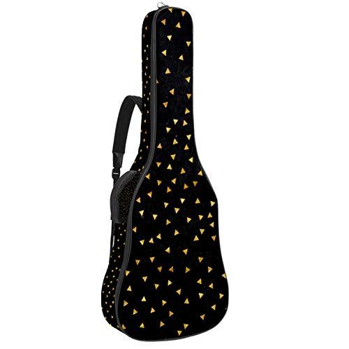 Bolsa de guitarra reforzada con esponja gruesa demasiado acolchada, funda para guitarra, cuna para cuello, gancho trasero para guitarra acústica clásica, geometría negra