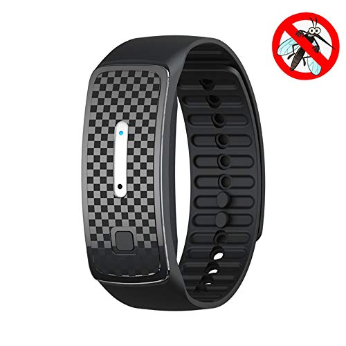 Ultrasonic physical repellent bracelet, USB rechargeable waterproof anti-mosquito watch, Reusable electronic mosquito repellent wristbands adults and children, Can be used continuously for 150 hours