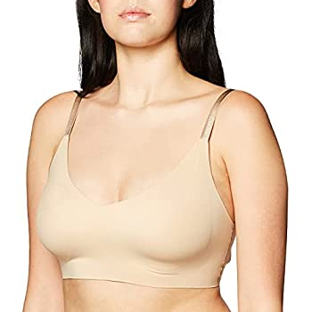 Calvin Klein Women s Invisibles Wirefree Lightly Lined Triangle Bralette Bare M