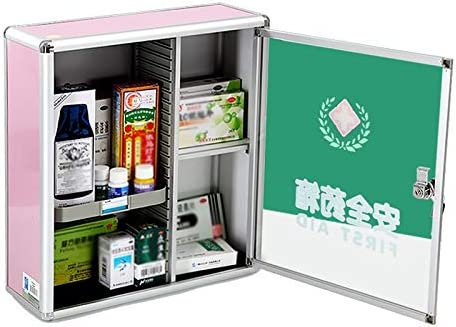 MXueei Wall Mounted Medical Cabinet Max 54% OFF First Aid with Popular shop is the lowest price challenge Kit 2 Shelve