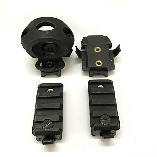 H World EU Accesorios tácticos para casco Airsoft de 2,5 cm, soporte de abrazadera para linterna de ajuste rápido para casco