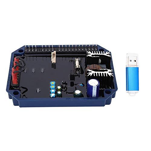 Regulador de voltaje AVR de alarmas de pico, regulador de voltaje de 20 pines 5A con fusible rápido, motores asíncronos con unidad flash USB para generadores autoajustables de Mecc Alte
