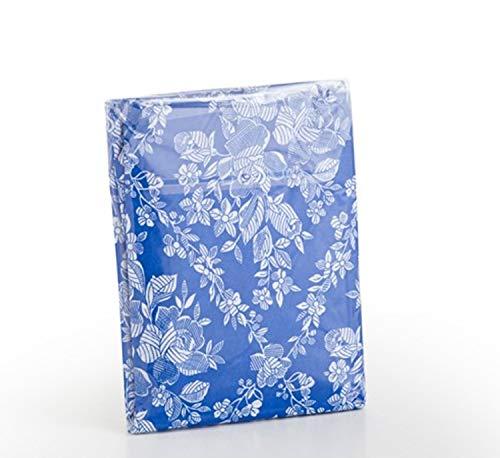 ok Funda de colchón con Cremallera Flor Azul Poliéster...