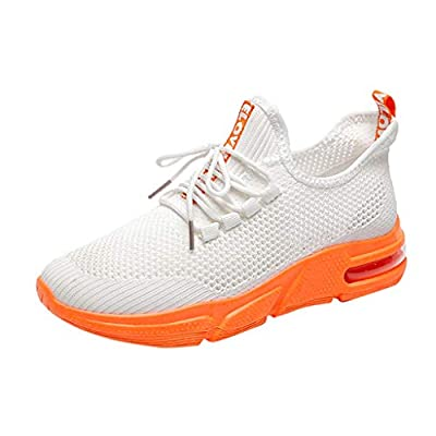 RAINED-Women Breathable Sports Shoes Flying Woven Running Mesh Lace-Up Outdoor Casual Shoes Trail Walking Gym Sneakers