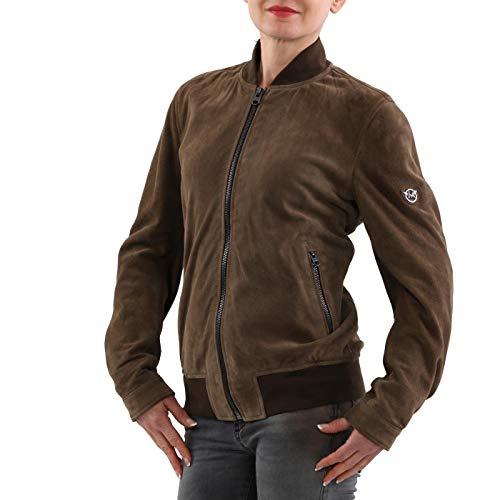 Matchless Damen Leder Jacke Anastasia Bomber Military Green 123150 Größe (42) S