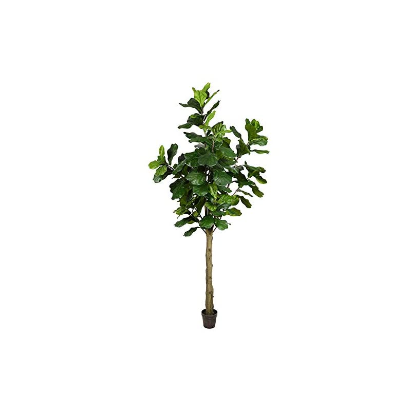 silk flower arrangements vickerman potted everyday fiddle artificial-trees, 8', green