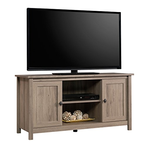 Sauder 417772 County Line Panel TV Stand, Salt Oak