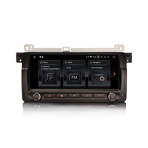 ERISIN 8.8 Zoll Android 10.0 Autoradio für BMW 3ER E46 M3 320 Rover 75 MG ZT mit GPS-Navi Unterstützt Carplay Android Auto Bluetooth 5.0 A2DP WiFi 4G DAB+ RDS Mirror- Link TPMS 2GB RAM + 16GB ROM