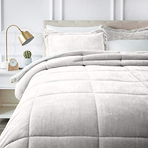 AmazonBasics Ultra-Soft Micromink Sherpa Comforter Bed Set,...