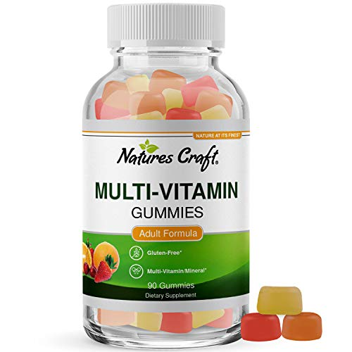 Multivitamin Gummies for Women and Men - Chewable Gummy Zinc Supplement Multi-Vitamin D3 Mineral Complex for Adults with Biotin Vitamin A C D E B12 - Best Vitamins Energy Booster Iodine Folic Acid