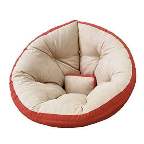 Wsaman Sofá portátil y acolchado suave y plegable, para tumbona perezosa, silla de almacenamiento, silla de juegos con transformable extraíble para leer, juegos, ver televisión, naranja, M