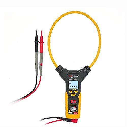ZGQA-GQA Multimeter AC Digital Flexible Clamp Meter Smart Multimeter LCD Display Handheld Voltage Current Resistance Frequency PM2019S