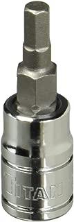 Titan Tools 15604 1/4-Inch Drive x 4mm Hex Bit Socket