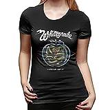Camiseta de Manga Corta para Mujer Camiseta de Cuello Redondo Regular de Moda Casual Fresca de Verano Whitesnake Come an' Get it