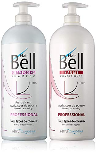 HairBell Shampoo & Conditioner (2x 1000ml) - Haarwachstumsbeschleuniger wie HairJazz Hairplus