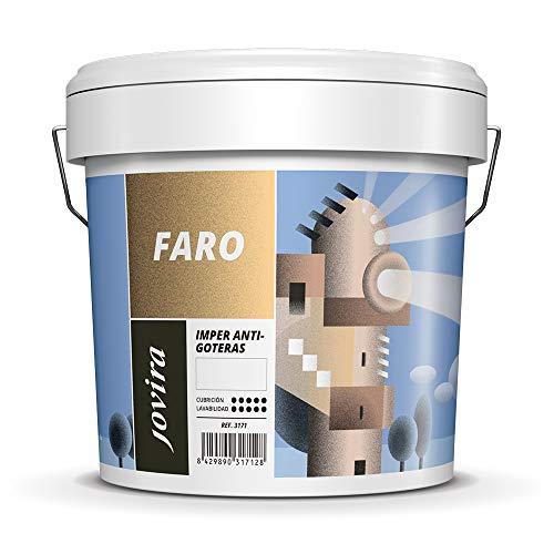 ANTIGOTERAS ELASTICA, pintura de terrazas evita filtraciones en todo tipo de cubiertas y terrazas.(5 KG, ROJO)