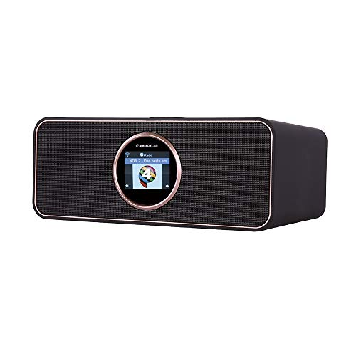 Albrecht DR 884 Kompaktanlage, 27884, Internetradio, Digitalradio, DAB+, UKW mit RDS, Bluetooth, USB, Farbdisplay, Musikstreaming via Smartphone-App möglich, 2 x 7,5 W, Farbe: schwarz