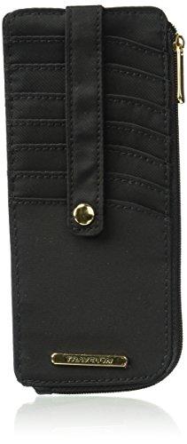 Travelon Women's Tailored Corner Zip Slim Wallet, Onyx