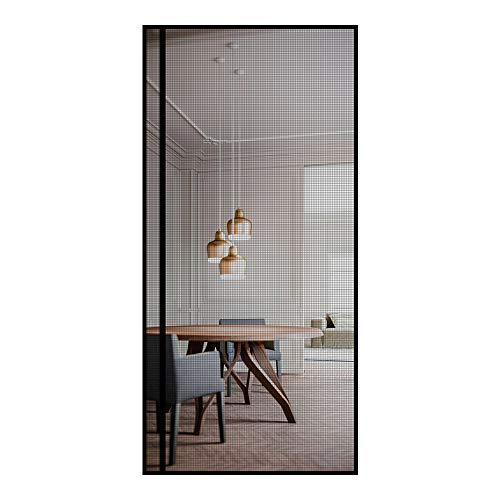 Magnet Fliegengitter Tür 100x210 cm Insektenschutz Tür, die linke oder rechte Seite Öffnungs Magnet Fliegenvorhang ideal für die Balkontür Kellertür und Terrassentür, Kinderleichte Klebemontage