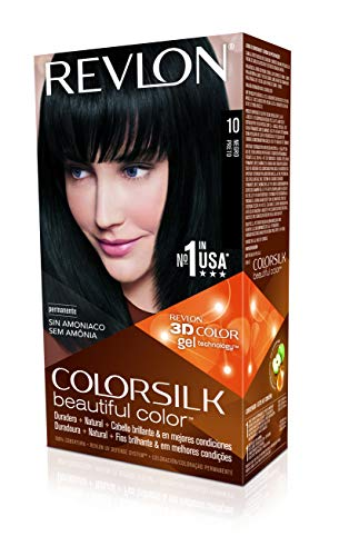 Revlon Colorsilk Permanent Haircolor, 10 Black 1 ea