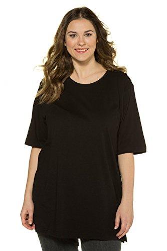 Ulla Popken Große Größen Damen T-Shirt, Rundhals, Schwarz (schwarz 10), 50/52 (Herstellergröße:50)