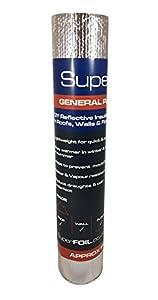 SuperFOIL - Lámina aislante (1 m x 7 m) - 4 mm - Reflector de calor de doble capa para paredes, suelos, techos, caravanas y furgonetas, 1 rollo de lámina de aluminio acolchado, color plateado