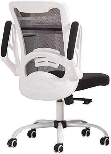 ZHPBHD Ergonomischer Bürostuhl High Back Mesh-Bürostuhl mit Computer Stuhl höhenverstellbar (Color : White)