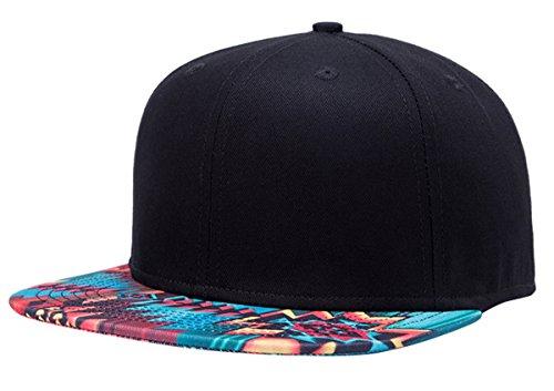 Aivtalk - Hip Hop Negro Sombrero Gorra de Béisbol Moda con Estampado Unisex Snapback Hat Cap para Hombres Mujeres