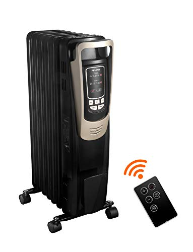 Fantastic Deal! PELONIS 2019 Oil Filled Radiator Heater Luxurious Champagne Portable Space Heater wi...