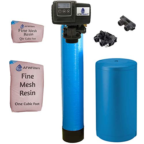 AFWFilters IRONPRO2 Pro 2 Combination Water Softener Iron Filter Fleck 5600SXT Digital metered Valve for Whole House (40,000 Grains, Blue)