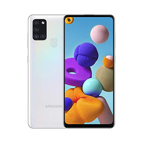 Samsung Galaxy A21S (64GB, 4GB) 6.5', Quad Camera, All Day Battery Dual SIM GSM Unlocked Global 4G LTE VoLTE (T-Mobile, AT&T, Metro, Straight Talk) International Model A217M/DS (64GB SD Bundle, White)
