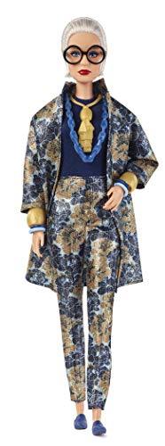 Barbie Styled by Iris Apfel con Abito di Broccato a Fiori e Accessori, FWJ28