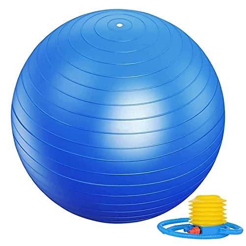 Ballon de Gymnastique, Balle de Fitness Épaissie Antidéflagrante avec Pompe à Bille, Peut Supporter 300kg, Conception Anti Dérapant, 65cm Yoga Ball, Utilisé pour Grossesse, Dequilibre, Fitness