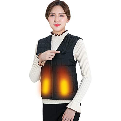 TXYFYP Chaleco Calefactor De Carga USB, Termostato Inteligente De Seguridad para Mujer Chaleco para Hombres con Un Botón De Calefacción Calefacción De Tres Capas Senderismo Camping Invierno Cálido