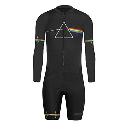 Uglyfrog LJ37 2018-2019 Neue Mountain Bike MTB Herren Triathlon Skinsuit Langarmtrikot with Gel Pad Short Jersey+Short Legs
