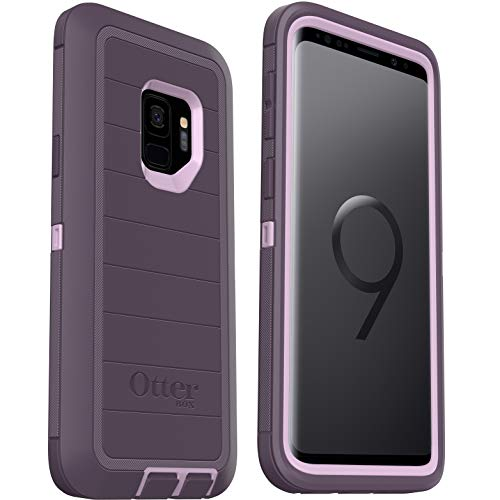 OtterBox Defender Series Rugged Case for Samsung Galaxy S9 - Case Only - Non-Retail Packaging - Purple Nebula - with Microbial Defense