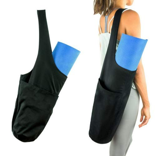Vianber Yoga Matte Tasche, faltbare Leinwand Yoga Übung Matte Tote Sling Carrier Schultertasche