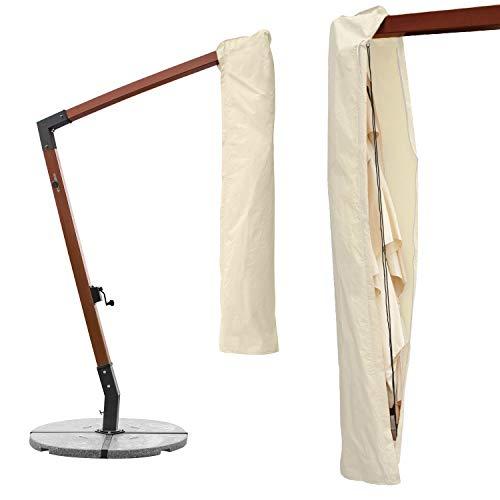 anndora Schutzhülle für Ampelschirm 3x3 m Sonnenschirm - Natural