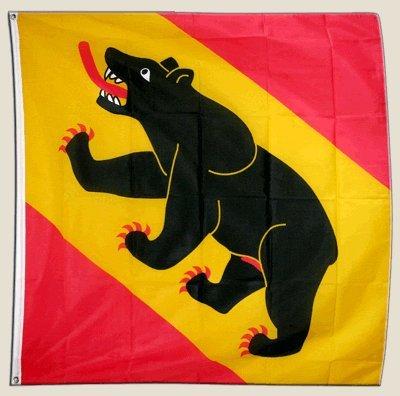 Flagge Schweiz Kanton Bern - 150 x 150 cm [Misc.]
